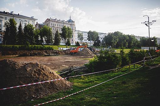 Начало реконструкции парка по проекту Wowhaus.