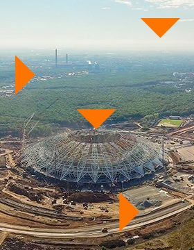Comprehensive Analytical Study of the Area around the Samara Arena Stadium