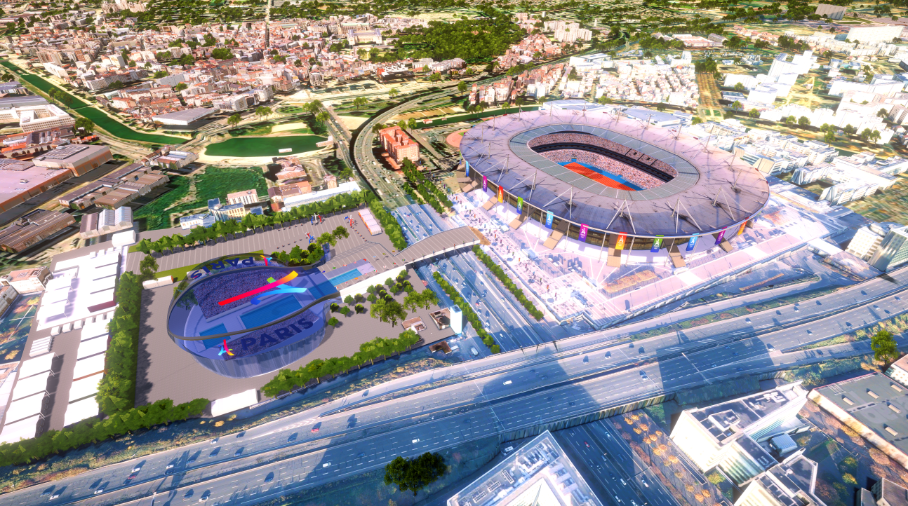 Стадион «Стад де Франс» и Олимпийский дворец водных видов спорта, Сен-Дени, Метрополия Большой Париж, Франция