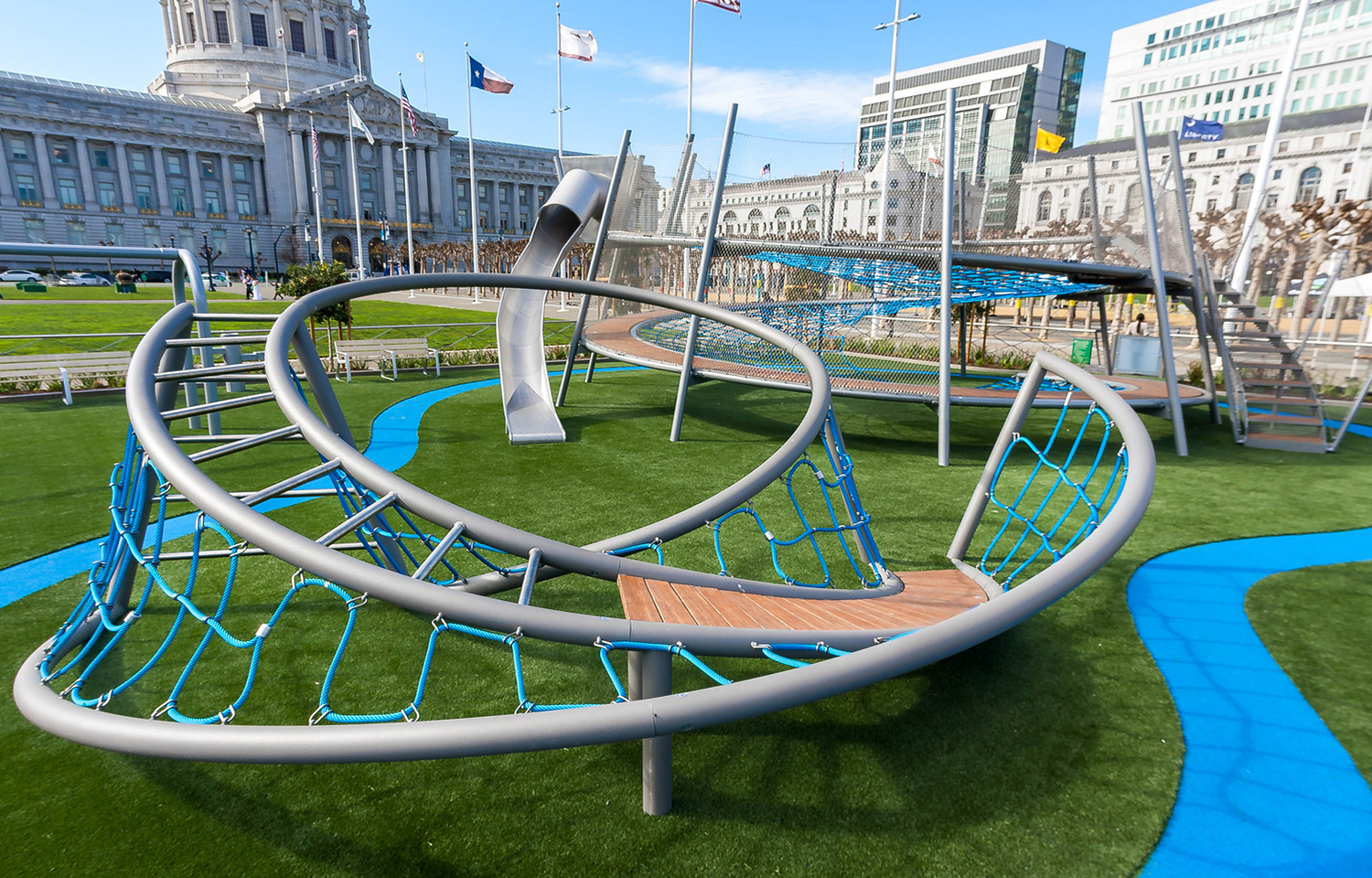 Helen Diller Civic Center Playgrounds, Сан-Франциско, США, Endrestudio